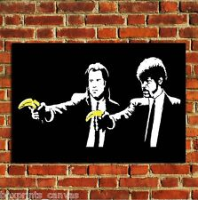 BANKSY PULP FICTION GRAFFITI POSTER QUALITY WALL ART PRINT PICTURE A4 A3 A2
