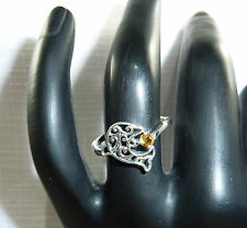 """Solid 925 Sterling Silver Dolphin, """"Gemstone"""" Ring"""