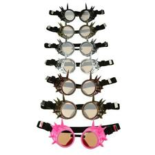 New VINTAGE Steampunk Rivet Goggles Cyclops Glasses Welding Cyber Cosplay Props