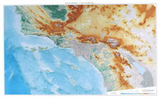 """Southern California Topographic Wall Map by Raven Maps, 39"""" x 63"""""""