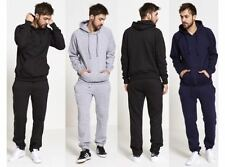 NEW MENS TRACKSUIT PULLOVER HOODED TOP GYM PLAIN JOGGING SET FLEECE BOTTOMS SUIT