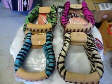 Showman Zebra Print Hair On Cowhide Covered Western Stirrups! Colors! FREE SHIP