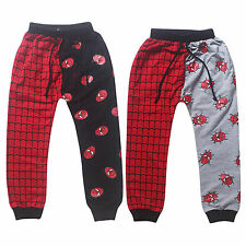 Cool Super Spider-man Kids Boys Girl Casual Harem Long Sweat Pants Trousers 2-7Y