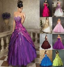 New STOCK Prom Party Ball Gown Formal Wedding Bridesmaid Evening Dress Size 6-16