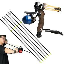 Fishing Shooting Slingbow Slingshot Catapult & 6x 8mm Fishing Arrow Safety Slide