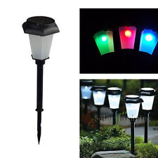 Solar Power Garden Decor Outdoor LED Color Changing Light Path Way Lawn Lamp New