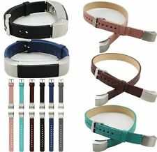 Genuine Leather Single/Double Tour Bracelet Watch Band Buckle For Fitbit Alta
