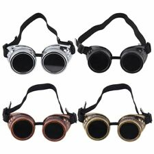 Goggles Cyber Steampunk Glasses Vintage Welding Punk Gothic Victorian LOT MC
