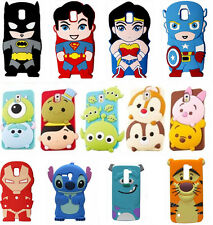 3D Disney Cartoon Soft Silicone Rubber Gel Back Case Cover For iPhone Samsung LG