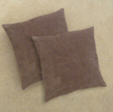 Chocolate CHENILLE Cushion Covers SOFT Touch STANDARD Or EXTRA LARGE Size  PAIR