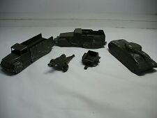 MIDGETOY MILITARY ~ Selection of Vintage Midgetoy Military Die-Cast Toys 1950's