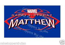 Spiderman toppers - edible wafer & icing sheets - Cake toppers - Cupcake toppers