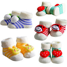 Cute Baby Girls Boys Anti-slip Socks Infant Toddler Cartoon  Slipper Shoes Boots