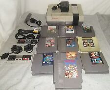Nintendo NES Console System--2 Controllers 10 Games New Pins Super Mario NICE
