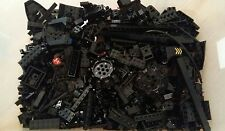 LEGO BLACK 500g MIXED BRICKS & PIECES - BASES & SHAPED PIECES Ref 1