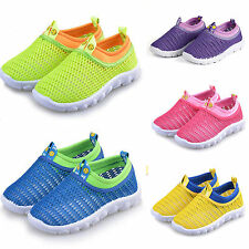 Breathable Running Flats Kids Boy Girls Mesh Trainer Sneaker Shoes Sandals Pumps