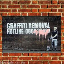 BANKSY GRAFFITI REMOVAL HOTLINE POSTER QUALITY WALL ART PRINT PICTURE A4 A3 A2