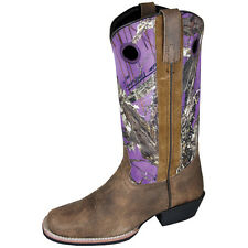 Smoky Mountain Women's  Brown and Purple Camo Square Toe Western Boots 6464