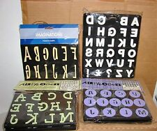 New Lot of 4 Packages of Alphabet Foam Craft Stamps