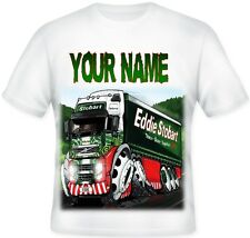 Kids Personalised Koolart EDDIE STOBART T Shirt Great Christmas Gift