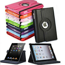 "New 360 Rotating Folio Stand Smart Case Cover For Apple iPad 9.7"" iPad 2 3 4"