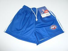 AFL NORTH MELBOURNE KANGAROOS KIDS FOOTY SHORTS - BRAND NEW