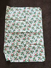 Large Oilcloth WipeClean Fabric Remnant Genuine Cath Kidston Christmas Holly