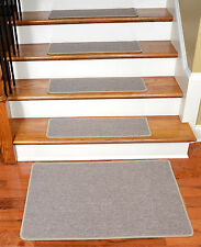 Dean DIY Carpet Stair Treads w/Landing Mat - Beige Suede (13) Choose Your Size