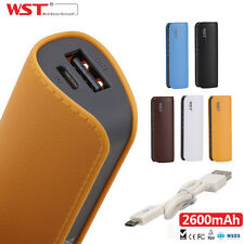 2600mAh Portable External Battery USB Charger 18650 Power Bank For Mobile Phone