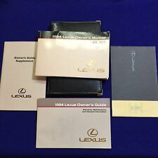 1994 LEXUS ES300 OWNERS MANUAL & GUIDE WITH SUPPLEMENTS AND BINDER OEM