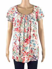 New Tags Marina K Cream Abstract Print Tunic Top Plus Size 18 20 22/24 FREEPOST