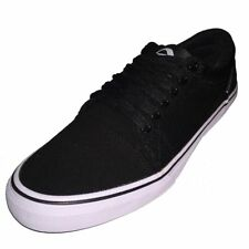 ADIO MENS GRIP CANVAS SKATE BLACK SHOES