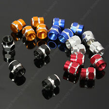 2XAnodized Aluminum Valve Air Stem Hex Cap Car Truck Wheel Tire Screw Dust Cover
