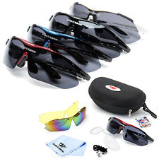 ROBESBON Polarized Cycling Sunglasses Bike Goggles Outdoor Sports Glasses 3 Lens