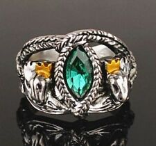 1pc Fashion Lord of Rings LOTR Aragorn's Ring of Barahir Mens Crystal Ring New S