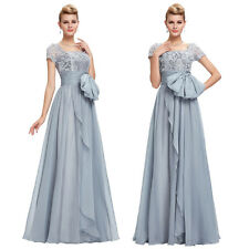 New Short Sleeves Boat Neck Formal Long Dress Bridesmaid Evening Maxi Party Prom
