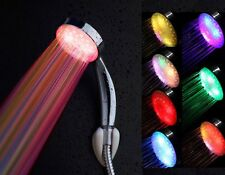 HOt 7 Colour LED Rainbow Light Gradient Changing Mood Colourful Shower Head LN#