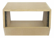 "4u angled 19"" inch wooden rack unit/case/cabinet for studio/DJ/recording/audio"
