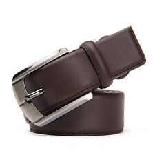 New Gents Mens Dress Casual Genuine Leather Belt Automatic Buckle Waist Strap