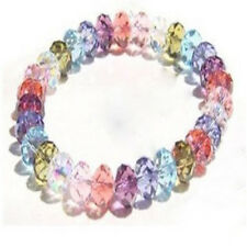 Girl's Fashion Crystal Faceted Loose beads Bracelet Stretch Bangle Hot Sell