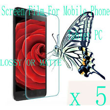 5 Clear Glossy Matte LCD Screen Protector Film Cover For  Mobile Phone Tablet PC