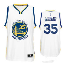 Kevin Durant Golden State Warriors #35 WHITE Stitched Jersey Swingman NBA S-2XL