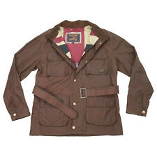 Triumph Wax Cotton Men's Textile Motorcycle Jacket Brown MUSA14701
