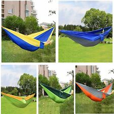 Double Person Portable Parachute Nylon Fabric Hammock for Indoor Outdoor Use