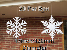 Giant White Foam Snowflakes Christmas Hanging Decorations Frozen Party Snow Ice