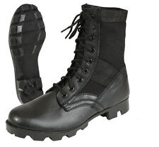 "Black Military Steel Toe Tactical 8"" Jungle Boots"