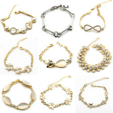 9 Styles Women infinity Stars Charm Bangle Gold Cuff Crystal Bracelet hot