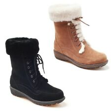 NEW Ozwear UGG Suede Kailani Lace Up Boot Black Chestnut Ladies 5 6 7 8 9 10
