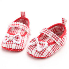 New Bow Lacing Baby Shoes Lattice Girls Princess Cute Soft Sole Toddler Newborn