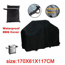 Heavy Duty Waterproof BBQ Cover Gas Barbecue Grill Cover Protector Black S,M,L